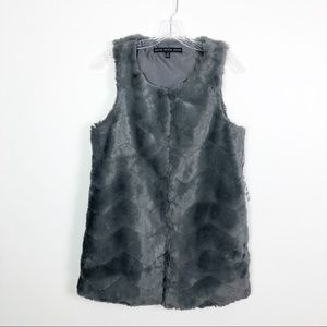 Hyfve Faux Fur Vest Grey Size Small